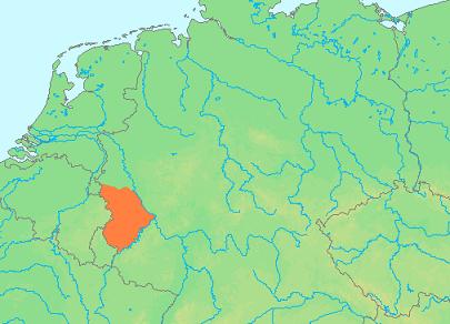 locatie van Eifel Duitsland